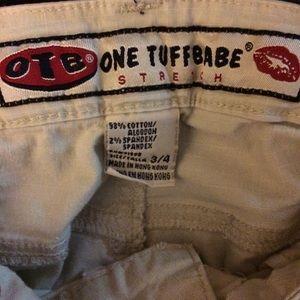 OTB Pants - OTB One Tuff Babe Khaki Capri's Juniors Size 3/4